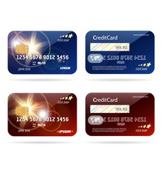 credit card with chip icons vector image