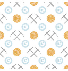 crypto currency blockchain seamless pattern vector image