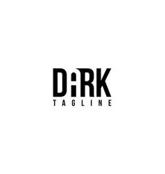 Dark word for logo design editable vector
