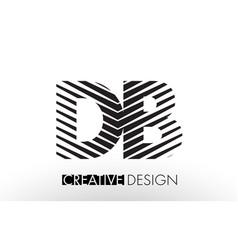 db d b lines letter design with creative elegant vector image