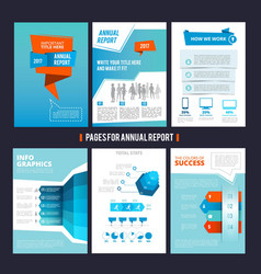 design template of corporation annual report vector image