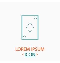 Diamonds card computer symbol vector