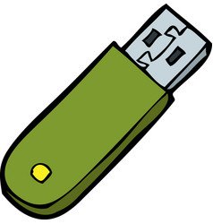 doodle flash memory vector image