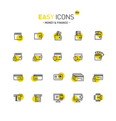 easy icons 09d money vector image