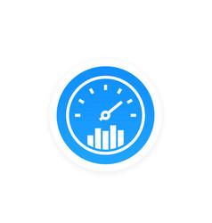 Efficiency performance icon vector