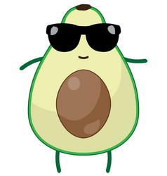 Funny avocado vector