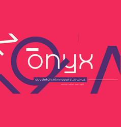 geometric lowercase letter set alphabet vector image