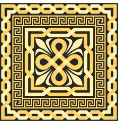 gold pattern of interlacing lines vector image