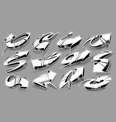 Graffiti arrows set vector