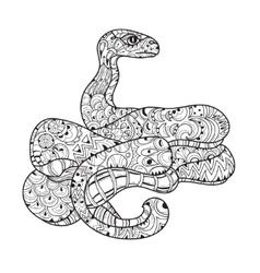 Hand drawn doodle outline anaconda vector