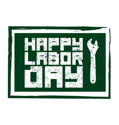 happy labor day icon international labour day vector image