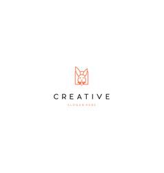 Head face rabbit bunny creative logo vector