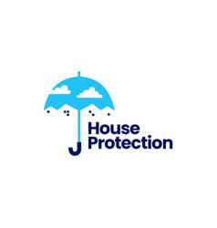 house protection home umbrella logo icon vector image
