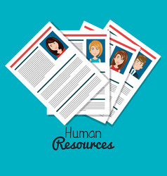 Human resources search isolated vector
