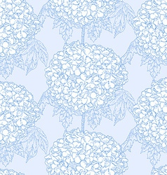 Hydrangeas seamless pattern vector