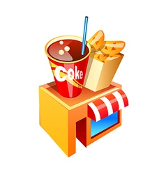 Icon fastfood shop vector