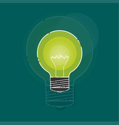 Incandescent lamp in a flat style vector