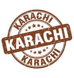 Karachi stamp vector