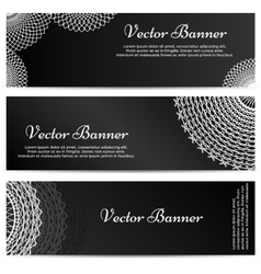 Lacework Ornamental Banners Horizontal Set vector image