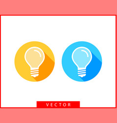 light bulb icon llightbulb idea logo concept set vector image