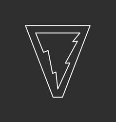 lightning symbol line art vector image