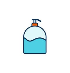 liquid soap flat icon sign symbol vector image