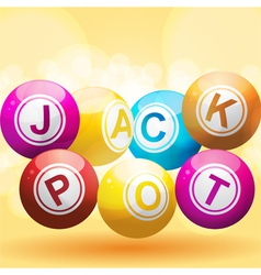 Lottery or bingo balls vector