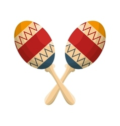 maracas instruments isolated icon vector image