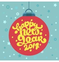 Mery Christmas greeting card design vector image