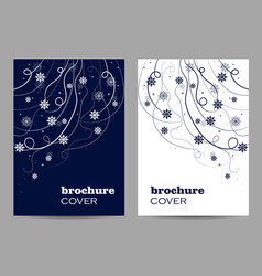 Modern brochure cover design beautiful winter vector