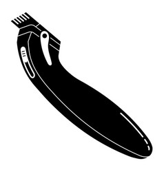 Modern hair clipper icon simple style vector