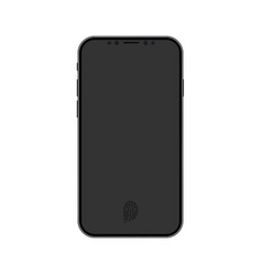new design smartphone with finger print and blank vector image