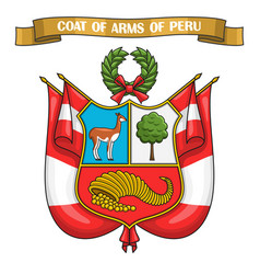 peruvian coat arms vector image