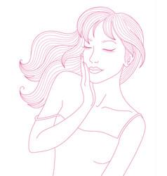 Portrait beauty woman vector
