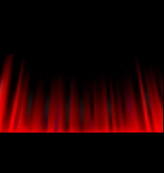 Red curtain abstract background theatrical drapes vector