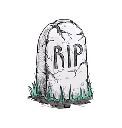 RIP tomb grave stone sketch icon vector