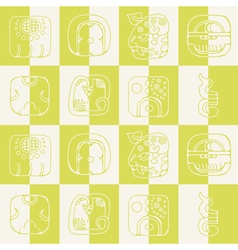 Seamless background with American Indians relics d vector