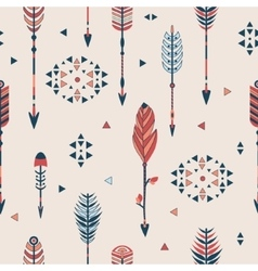 Seamless pattern with arrows vector