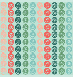 seamless pattern with stripes of swirls vector image