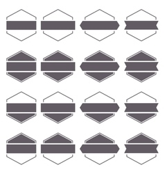 Set hexagonal emblem vector image