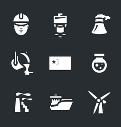 set of china industry icons vector image