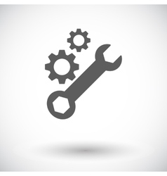 Setting single icon vector