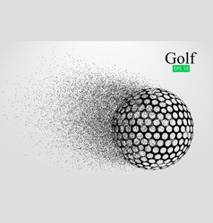 Silhouette of a golf ball vector
