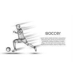 soccer player runs with the ball at high speed vector image