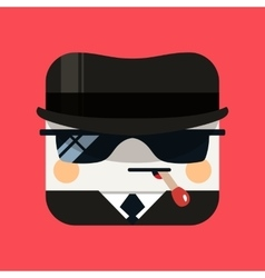 Spy avatar Trendy emissary squared vector image