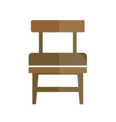 Stylish retro seat with back icon vector