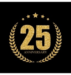 Template Logo 25 Years Anniversary vector