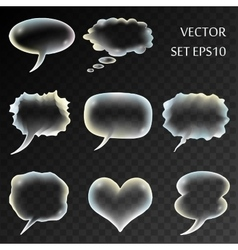 Transparent comics set vector