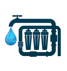 water purification and pipeline vector image