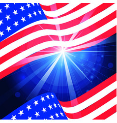 wavy american flag for independence day vector image